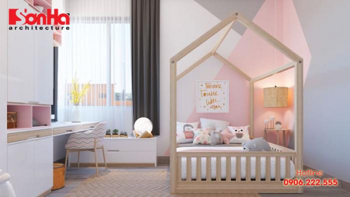 Phòng ngủ xinh xắn đáng yêu cho bé với những gam màu nhẹ nhàng