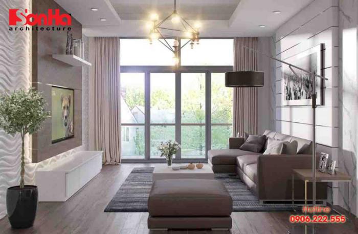 Phương án thiết kế phòng khách 25m2 cho căn hộ chung cư phong cách hiện đại