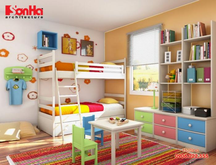 Thế giới màu sắc trong phòng ngủ bé yêu cho bé ngủ ngon