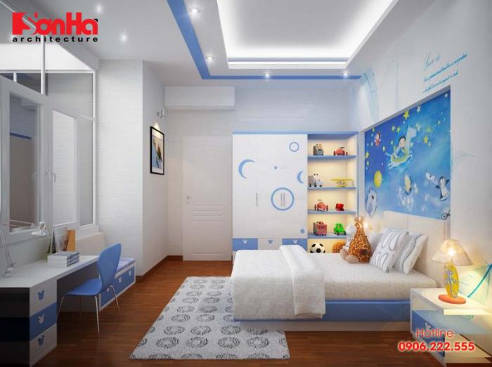 Thêm một tham khảo cho bạn để thiết kế phòng ngủ bé trai