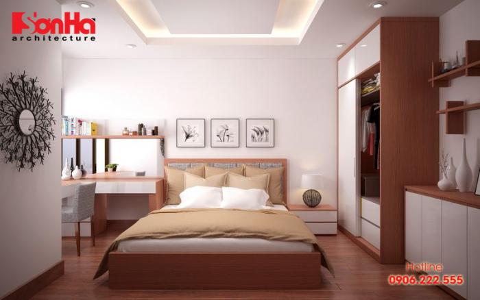 Thêm một ý tưởng bố trí không gian nội thất phòng ngủ với sàn gỗ công nghiệp