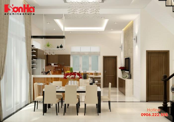 Thiết kế không gian bếp ăn hiện đại ấn tượng cho gia chủ cung Ma Kết