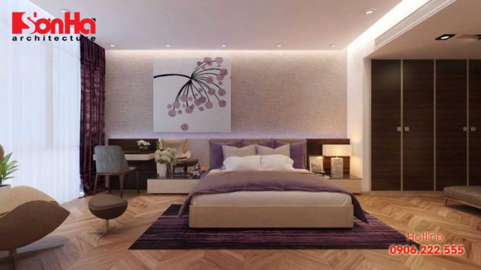 Thiết kế nội thất phòng ngủ gam màu trầm ấm cho người thuộc cung Song Ngư
