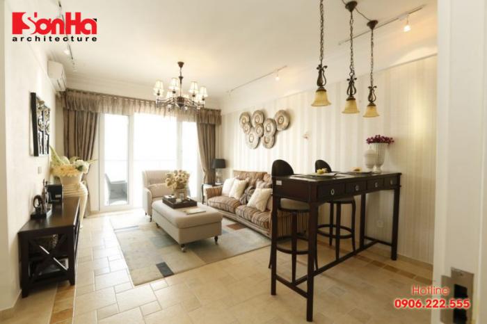 Thiết kế nội thất tân cổ điển làm tôn lên nét sang trọng của phòng khách