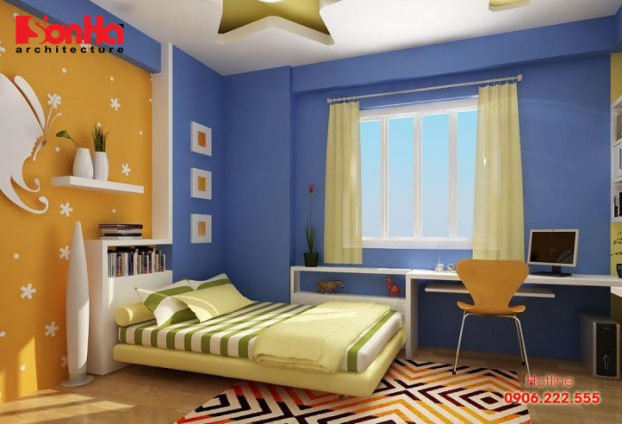 Thiết kế phòng ngủ bé trai cá tính và đẹp mắt