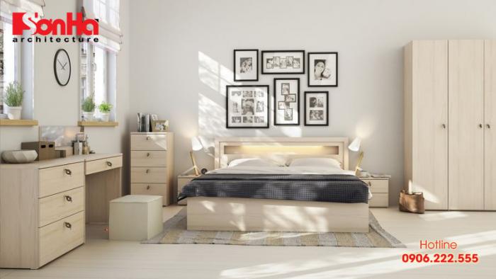 Thiết kế phòng ngủ phong cách hiện đại tối giản cho vợ chồng trẻ