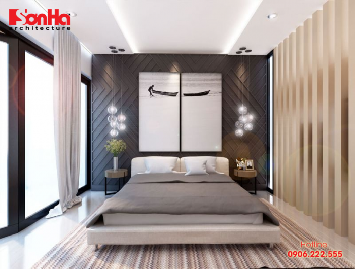 Trang trí nội thất phòng ngủ đơn giản nhưng vô cùng có chiều sâu