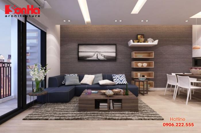 Trang trí trần phòng khách căn hộ chung cư đặc biệt cần lưu ý về độ cao trần