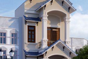 1 Thiết kế nội thất nhà ống tân cổ điển tại phú thọ sh nop 0184