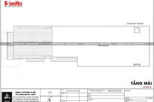 11 Mặt bằng công năng tầng mái nhà ống tân cổ điển mặt tiền 7m tại phú thọ sh nop 0184