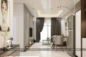 2 Mẫu nội thất phòng khách bếp hiện đại căn hộ chung cư wilton tower sài gòn