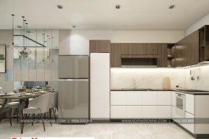 3 Thiết kế nội thất phòng khách bếp căn hộ chung cư wilton tower sài gòn