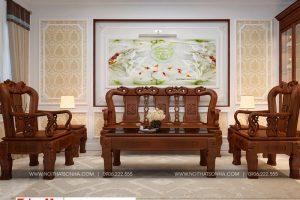 4 Mẫu nội thất phòng khách nhà ống tân cổ điển mặt tiền 7m tại phú thọ sh nop 0184