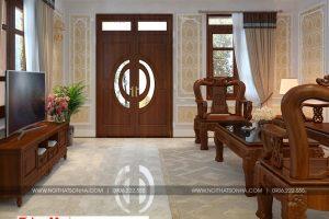 6 Mẫu nội thất phòng khách nhà ống tân cổ điển đẹp tại phú thọ sh nop 0184