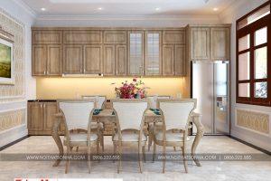 7 Thiết kế nội thất phòng bếp ăn nhà ống tân cổ điển 2 tầng tại phú thọ sh nop 0184