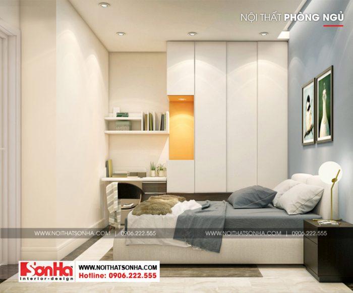 Căn phòng ngủ tuy nhỏ nhưng thiết kế đẹp dễ dàng hạ gục mọi ánh nhìn