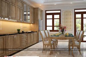 8 Mẫu nội thất phòng bếp nhà ống tân cổ điển mặt tiền 7m tại phú thọ sh nop 0184