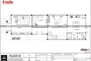 9 Mặt bằng công năng tầng 1 nhà ống tân cổ điển tại phú thọ sh nop 0184