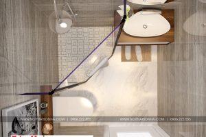 9 Thiết kế nội thất phòng tắm wc căn hộ chung cư wilton tower sài gòn