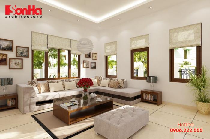 Cách bố trí vật dụng phổ biến đối với không gian phòng khách rộng