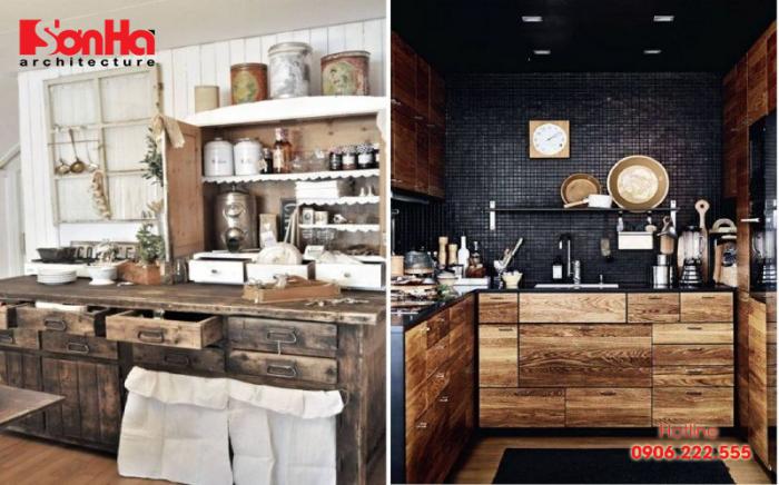 Căn bếp có diện tích hạn chế khép sắp xếp bạn cũng có thể dùng cách này