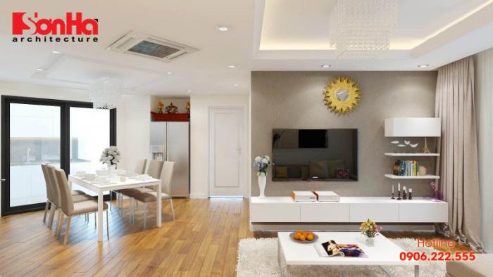 Cần nắm vững các lưu ý khi thiết kế thi công phòng khách và bếp liên thông