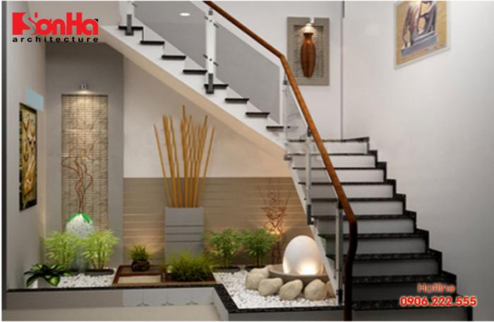 Cầu thang nhà 4m thì chiều cao bậc sẽ khoảng 17cm-19cm và rộng từ 24cm-27cm