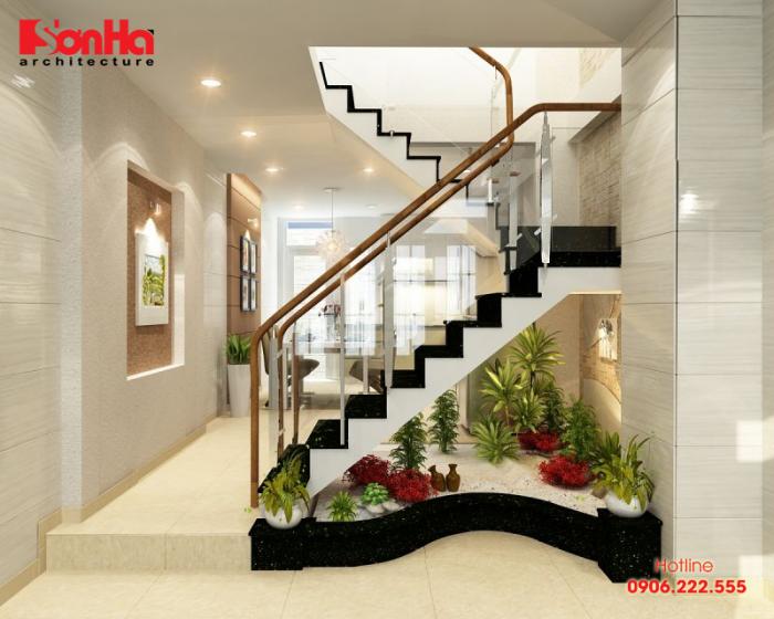 Chọn cầu thang phù hợp cho thiết kế nội thất nhà phố ngang 4m