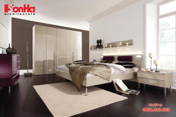 Đầu giường phong thủy là không nên làm bằng kim loại và không có nhiều lỗ hổng