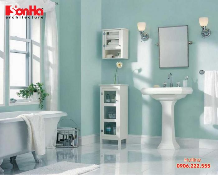 Lối thiết kế nhà đẹp phòng tắm theo các spa cũng được các gia đình thành thị lựa chọn