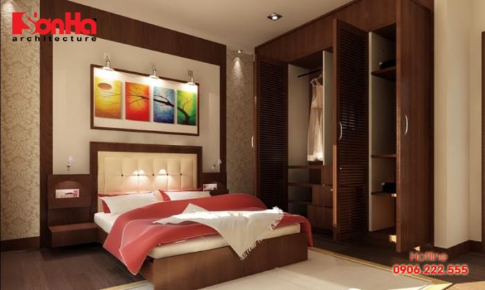 Mẫu phòng ngủ đẹp và tiện nghi với đồ nội thất gỗ tạo hình đẹp