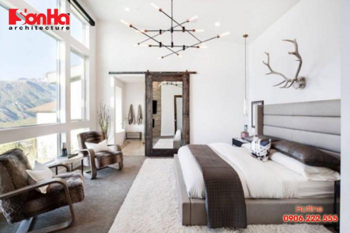 Thêm một ý tưởng được đánh giá cao trong bố trí phòng ngủ đẹp với gỗ