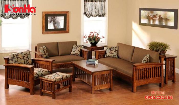 Thiết kế nội thất hiện đại cho không gian phòng khách màu vàng gỗ tuổi Kỷ Sửu