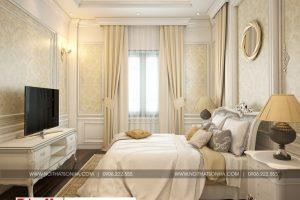 10 Mẫu nội thất phòng ngủ 2 biệt thự tân cổ điển mái thái tại quảng ninh sh btp 0127