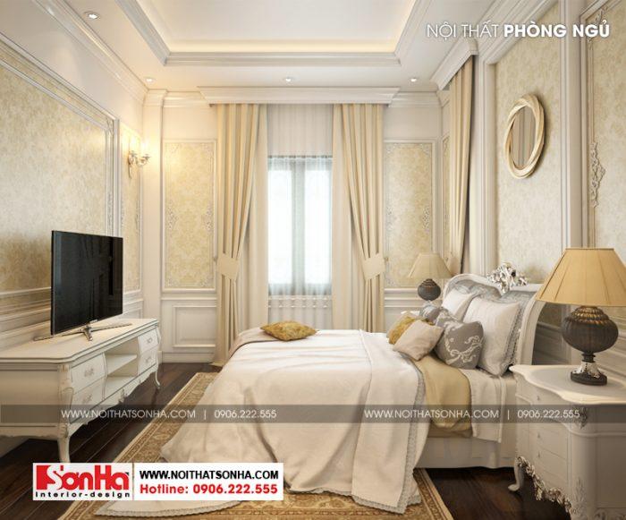Diện tích không lớn nhưng nội thất phòng ngủ được bố trí hợp lý ngăn nắp