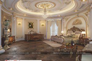 10 Mẫu nội thất phòng ngủ 2 cổ điển biệt thự lâu đài xa hoa tại gia lai