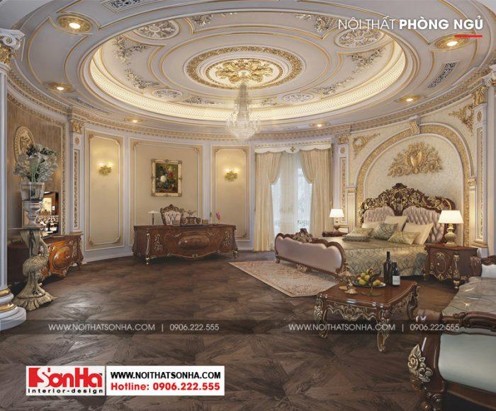 Phòng ngủ phong cách lâu đài hoàng gia châu Âu sang trọng mãn nhãn