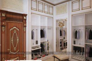 11 Thiết kế nội thất khu thay đồ phòng ngủ 2 cổ điển biệt thự lâu đài 3 tầng 1 tum tại gia lai