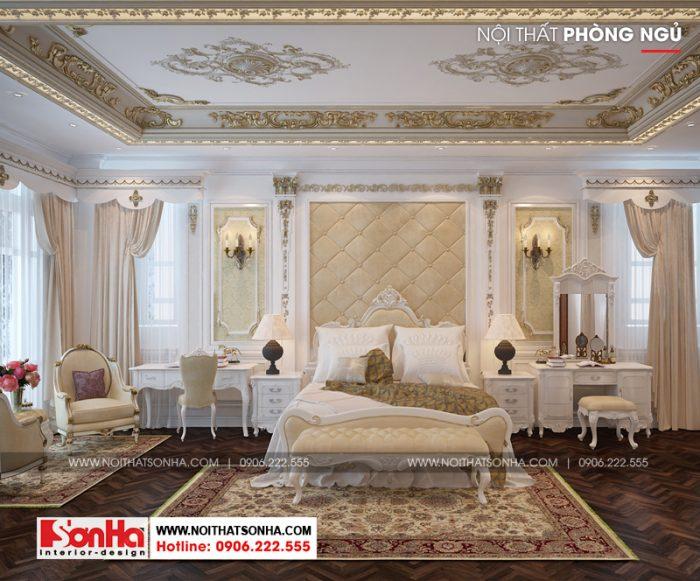 Thêm một ý tưởng thiết kế nội thất phòng ngủ xa hoa lộng lẫy của ngôi biệt thự đẹp
