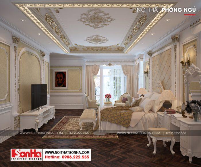 Từng đường nét trong thiết kế của không gian phòng ngủ cổ điển