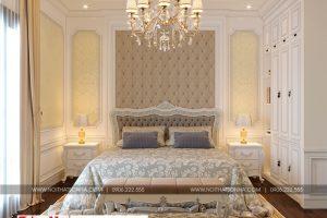 13 Thiết kế nội thất phòng ngủ 5 biệt thự tân cổ điển 3 tầng tại quảng ninh sh btp 0127