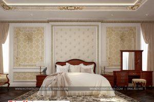 16 Mẫu nội thất phòng ngủ 4 cổ điển biệt thự lâu đài diện tích 1280m2 tại gia lai