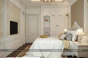 19 Thiết kế nội thất phòng ngủ 11 biệt thự tân cổ điển 2 mặt tiền tại quảng ninh sh btp 0127