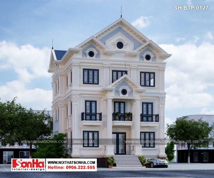 Từng đường nét kiến trúc của ngôi biệt thự tân cổ điển Pháp đều sang trọng