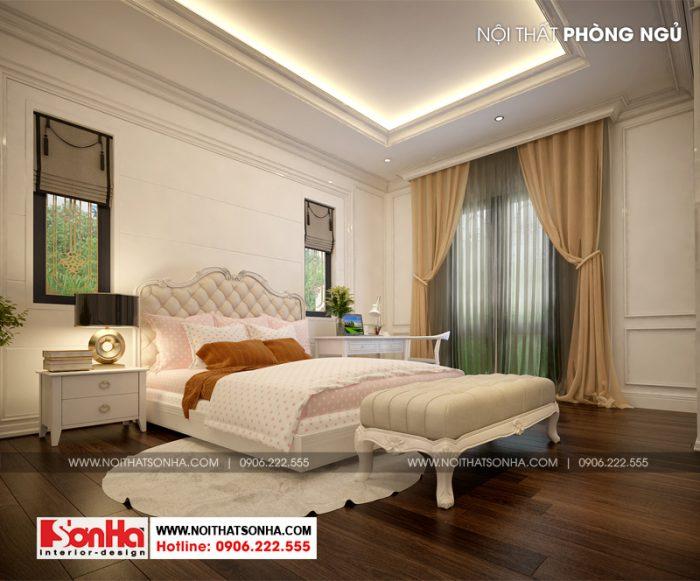 Phòng ngủ master với trang trí giản dị nhưng tinh tế từ đườn nét đến màu sắc