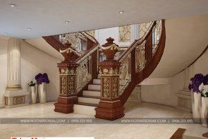 21 Thiết kế nội thất sảnh thang hầm rượu cổ điển biệt thự lâu đài tại gia lai