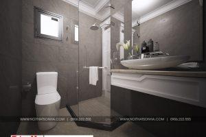 23 Thiết kế nội thất phòng tắm wc biệt thự tân cổ điển 3 tầng tại quảng ninh sh btp 0127