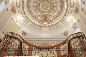 24 Mẫu nội thất trần tum cổ điển biệt thự lâu đài diện tích 1280m2 tại gia lai