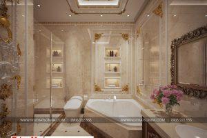 27 Thiết kế nội thất phòng tắm wc cổ điển biệt thự lâu đài 3 tầng 1 tum tại gia lai