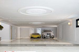 3 Thiết kế nội thất gara biệt thự tân cổ điển 3 tầng tại quảng ninh sh btp 0127